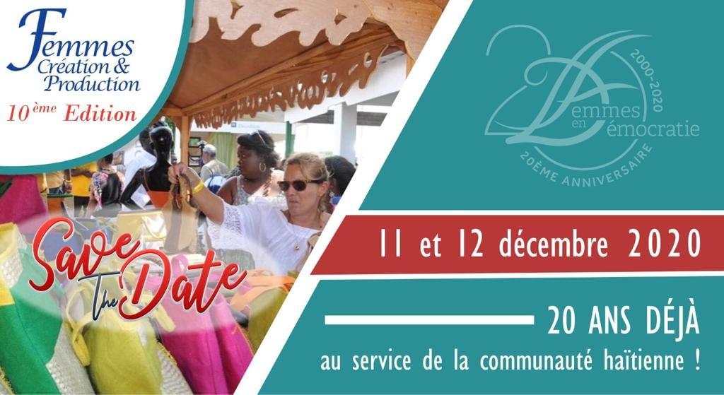 Femmes Création et Production – Save the date : 11-12 Décembre 2020 : Karibe Hôtel
